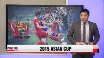 Asian Cup quarterfinals set as Group D wraps up