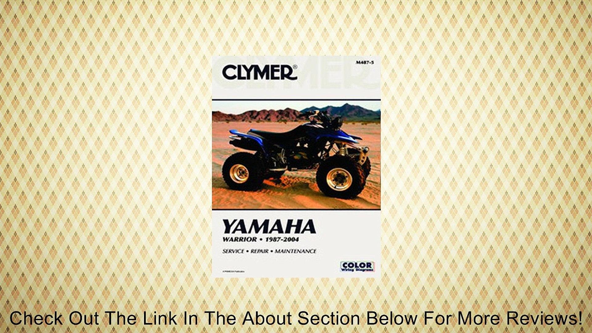 Yamaha Warrior 87-04 YFM350X YFM 350 Repair Manual NEW!