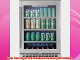 Danby DBC056D1BSSPR Silhouette Built-In Beverage Center 5.6 Cubic Feet Black/Stainless Steel/Glass