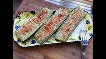 Cuisine Italienne - Courgettes farcies à la ricotta et au parmesan