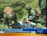 Autoridades de Cotopaxi destruyen pirotecnia decomisada en fin de año