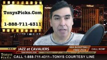 Cleveland Cavaliers vs. Utah Jazz Free Pick Prediction NBA Pro Basketball Odds Preview 1-21-2015