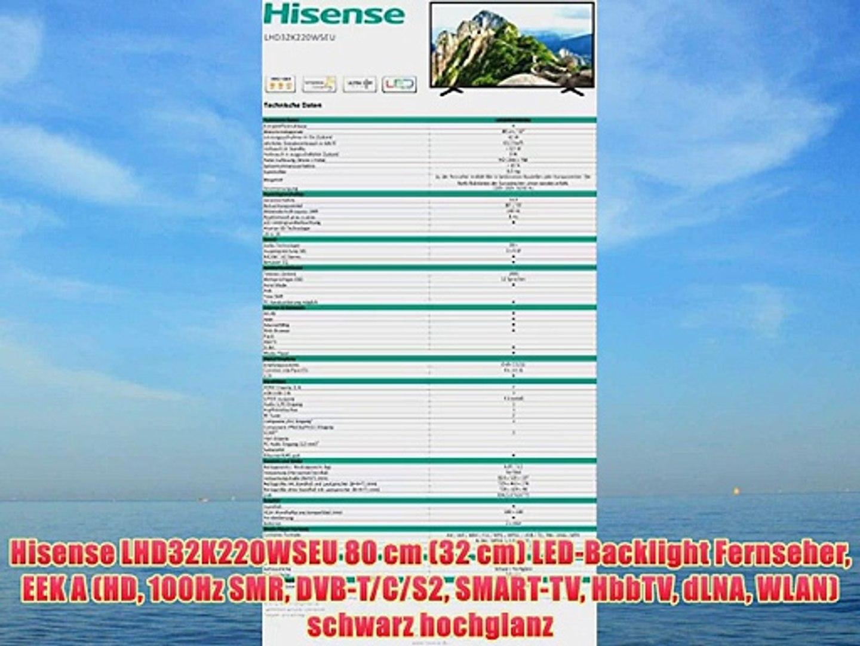 Hisense LHD32K220WSEU 80 cm (32 cm) LED-Backlight Fernseher EEK A (HD 100Hz  SMR DVB-T/C/S2