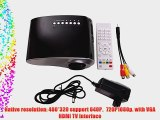 MeGooDo LED Mini Projector Fashionable Home Theater for Video Games TV Movie TXT Music