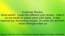 HELLA 004778001 Illuminated On/Off SPST Push/Pull Switch With 3 Interchangeable Lenses Review