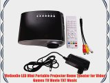 MeGooDo LED Mini Portable Projector Home Theater for Video Games TV Movie TXT Music