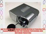 Aketek UC28 24W PRO Portable HDMI Mini Home LED Projector 60 Cinema Theater-Silver