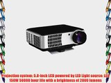 PROWLER (TM) RD-806 HD 3D Digital LCD LED Video Projector Home Theater Video Games Gaming Business