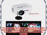 Excelvan UC30 Mini Portable Multimedia Projector Home Theater Video Games Gaming Halloween