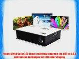 Aketek Full HD Multimedia LED LCD Portable Projector HDMI AV VGA Port USB - White 50'~120'Mini1500Lm