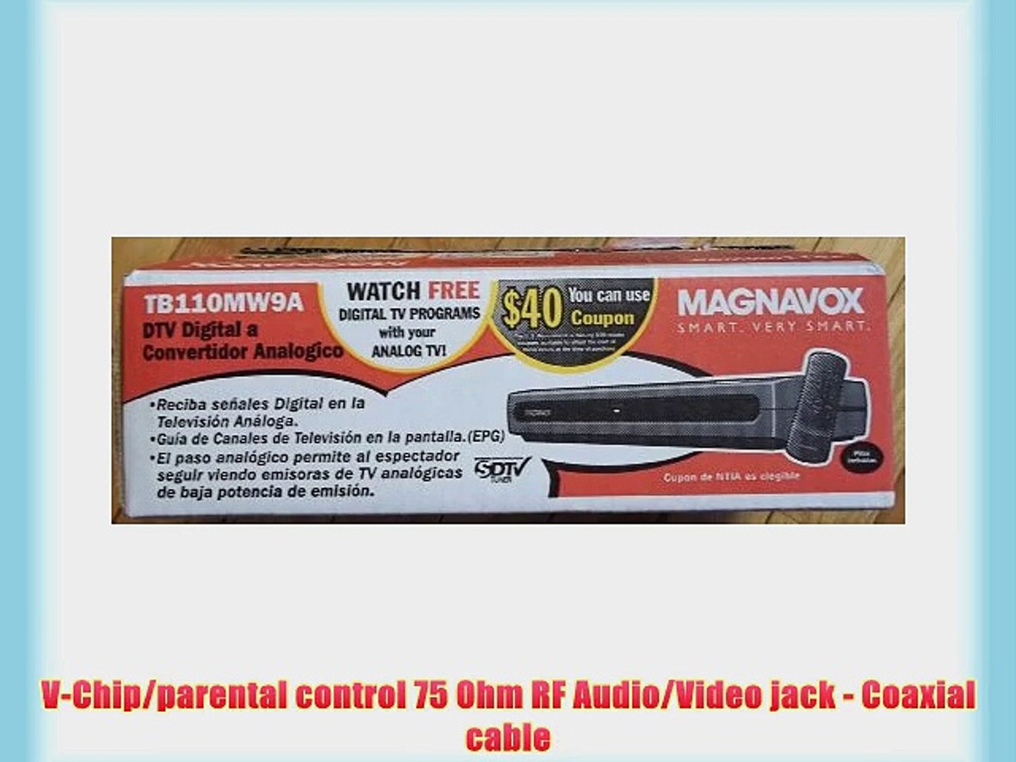 how do i hook up a magnavox sdtv tuner