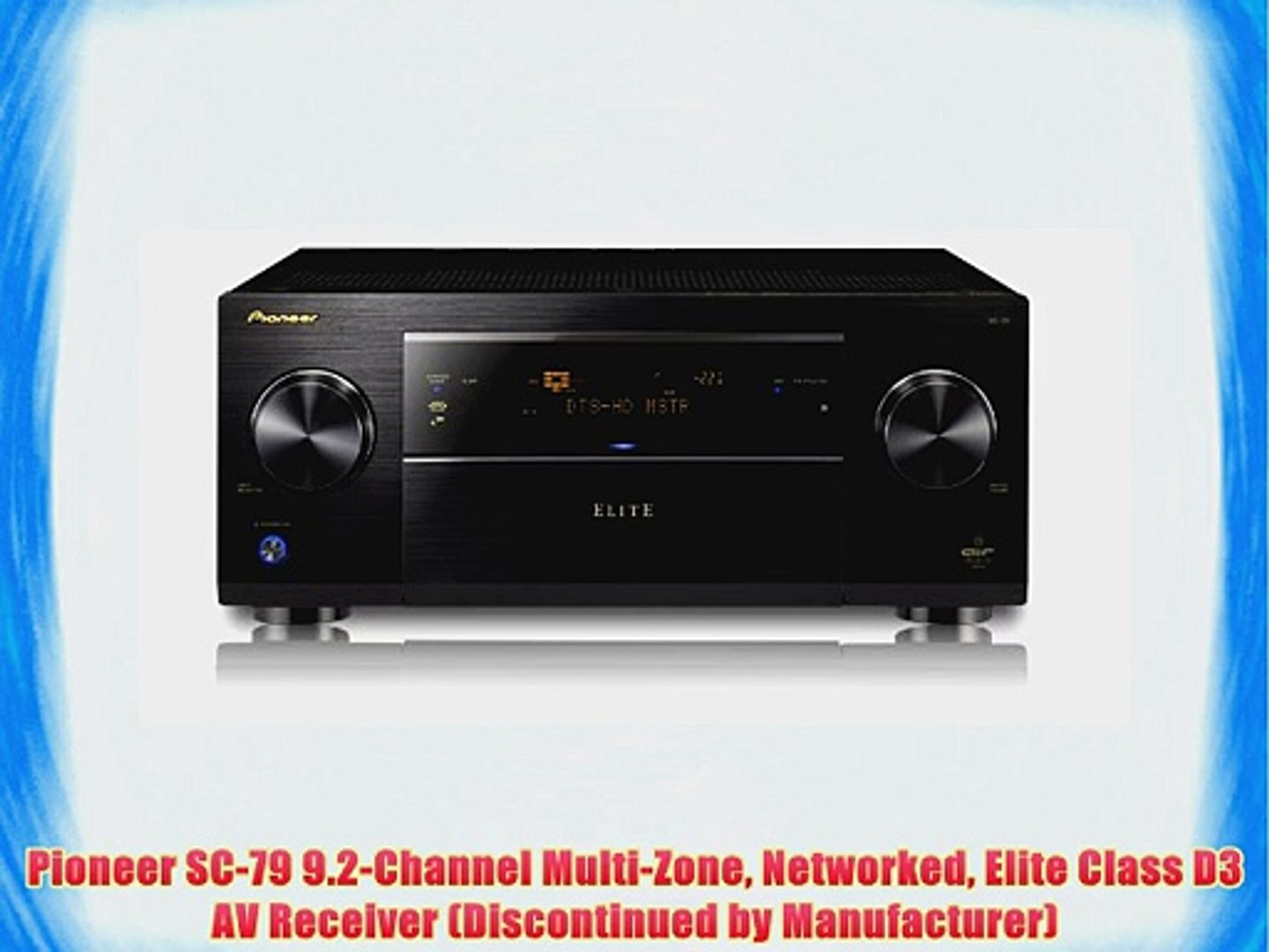 Pioneer VSX-53 Elite 7.1-Channel 3D Ready A//V Receiver home theater surround