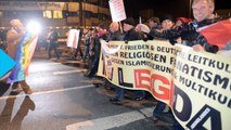 Thousands of Anti-Islam Protesters and Counter-demonstrators Square Off in Germany