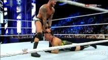 Randy Orton RKO on Rob Van Dam - Smackdown - September 6, 2013