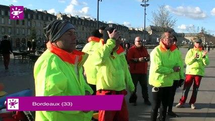 Téléthon 2014 : Descente de la Garonne en canoé par les pompiers de Bordeaux