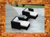 ohana collection PN0503 Genuine Ohana Outdoor Patio Wicker Furniture 5-Piece All Weather Gorgeous