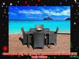 Outdoor Patio Wicker Furniture New All Weather Resin 5-Piece Dining Table