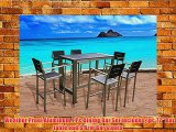 Outdoor Patio Wicker Furniture New Aluminum Resin 7-Piece Dining Bar Table