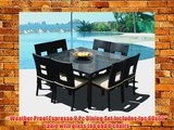 Outdoor Patio Wicker Furniture New Resin 9-Piece Square Dining Table