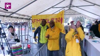 Téléthon 2014 : Vin chaud offert par la municipalite à Béziers (34)