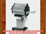 Phoenix Sdssocp Stainless Steel Propane Gas Grill Head On Stainless Steel Cart With Aluminum