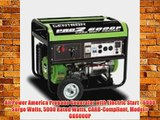 All Power America Propane Generator with Electric Start - 6000 Surge Watts 5000 Rated Watts
