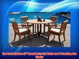 Grade-A Teak Wood Luxurious Dining Set Collections: 5 pc - 48 Round Butterfly Table and 4 Arbor