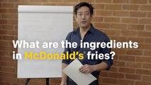 On connait enfin la composition des frites de chez McDo !
