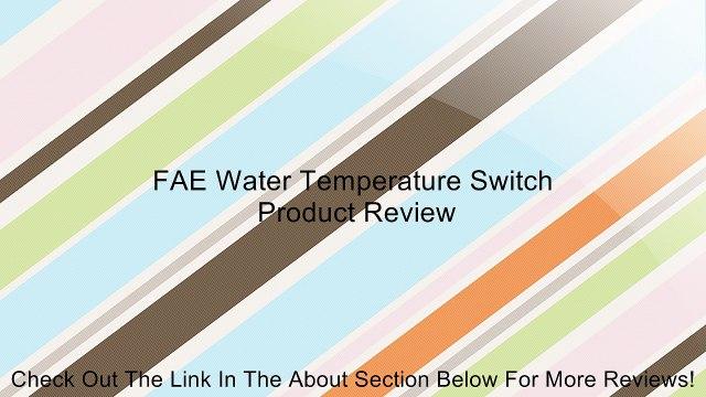 FAE Water Temperature Switch