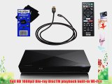 Sony BDP-S3200 Wi-Fi Blu-ray Disc Player with Remote Control   High- Speed HDMI Cable with