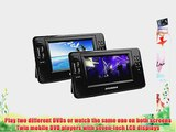 Sylvania SDVD8791 7-Inch Twin Mobile Dual Screen/Dual DVD Portable DVD Player