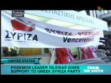 Podemos leader in Greece to support Syriza campaign