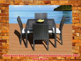 Outdoor Patio Wicker Furniture New Resin 5-Piece Square Dining Table