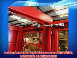 Red Cast Iron Replica English Telephone Booth STEEL METAL construction old antique British