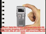 Anybest Digital Mini Portable rechargeable Audio Voice 8GB Voice Recorder Dictaphone With MP3