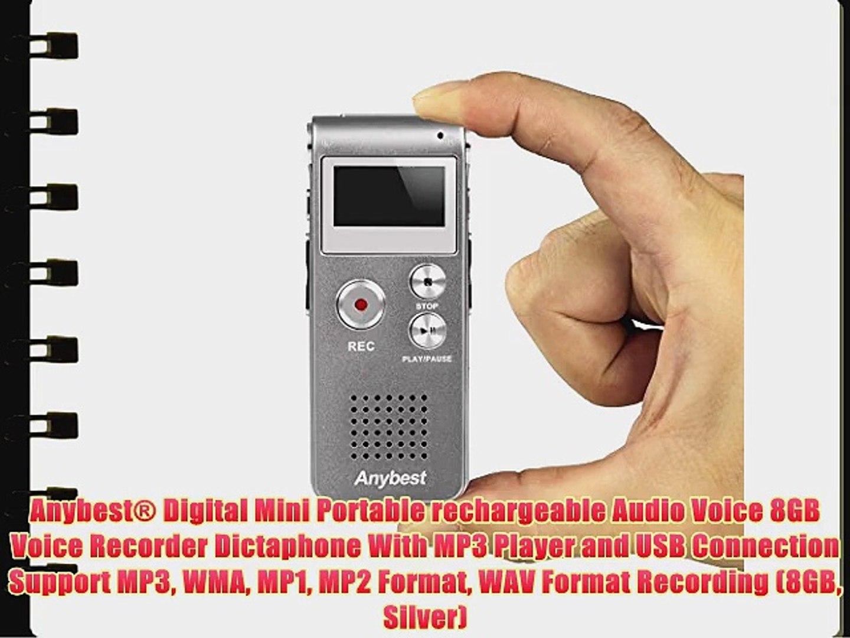 Digital Voice Recorder aLLreLi 8GB 2-in-1 USB Spy Sound Recorder and...