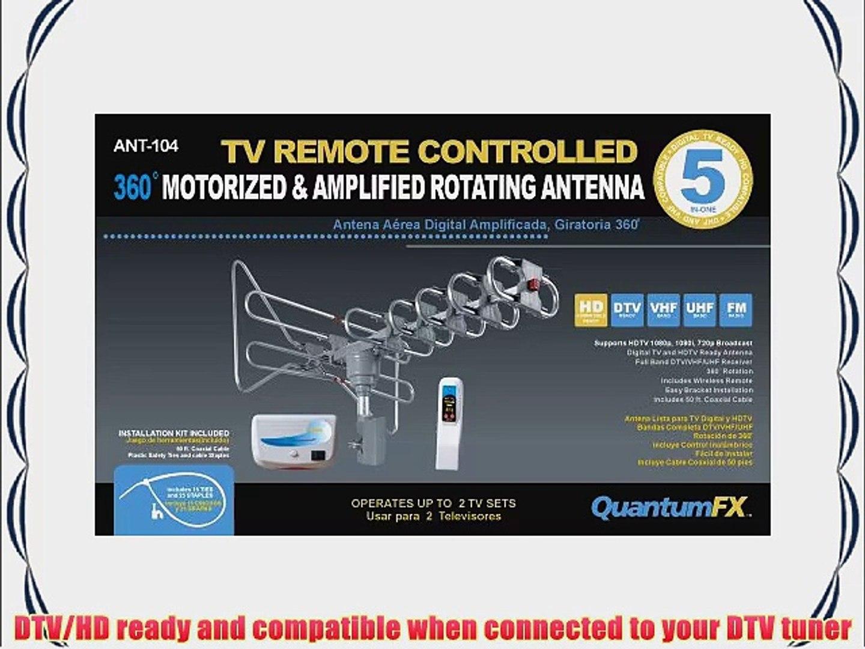 Supersonic SC-609 HDTV Digital Amplified Motorized Rotating Antenna for 2 TV Set