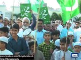 Dunya News - Karachi: People protest against blasphemous caricatures