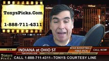 Ohio St Buckeyes vs. Indiana Hoosiers Free Pick Prediction NCAA College Basketball Odds Preview 1-25-2015