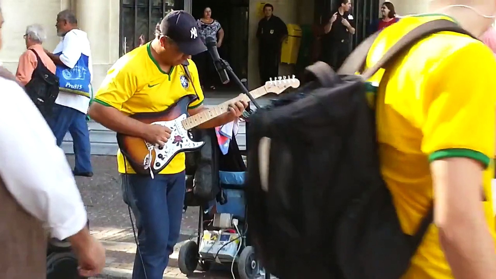 A street musician did a cover of Sultans Of Swing in Brazil
