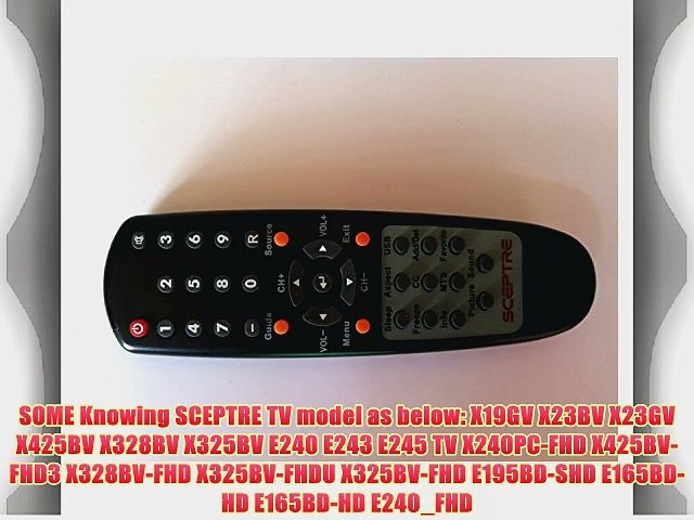 Brand New SCEPTRE LCD LED TV REMOTE for SCEPTRE X19GV X23BV X23GV X425BV  X328BV X325BV E240