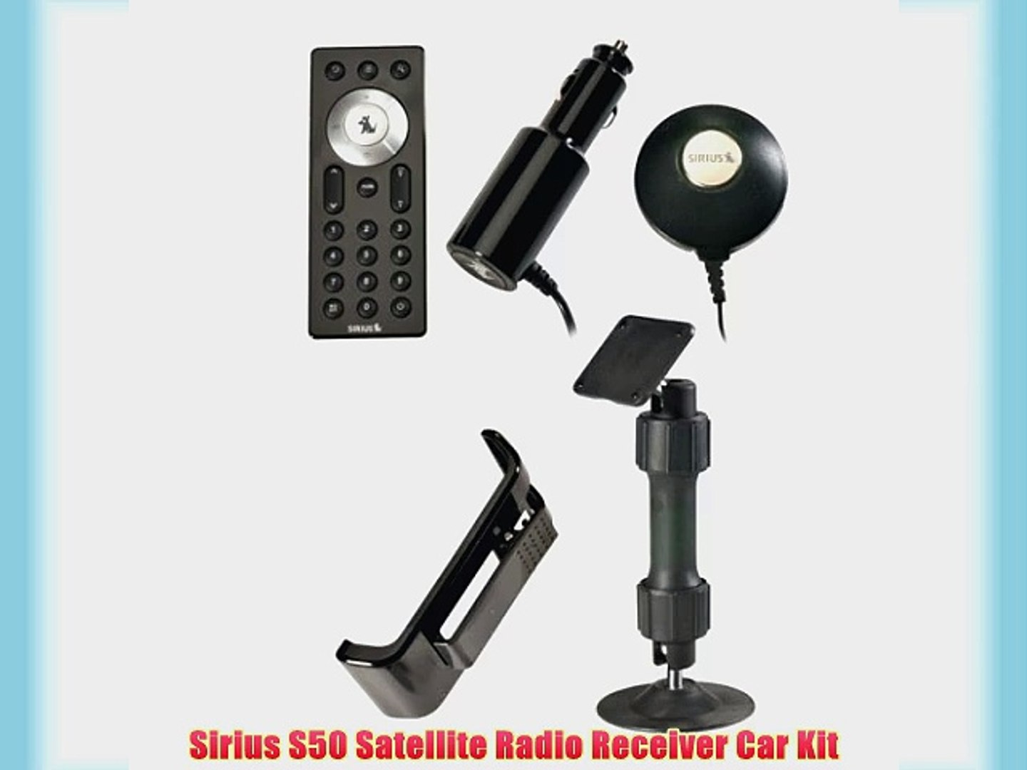 Radio Antenna,Dock Sirius StaRmate 5  with complete Car vehicle kit Charger