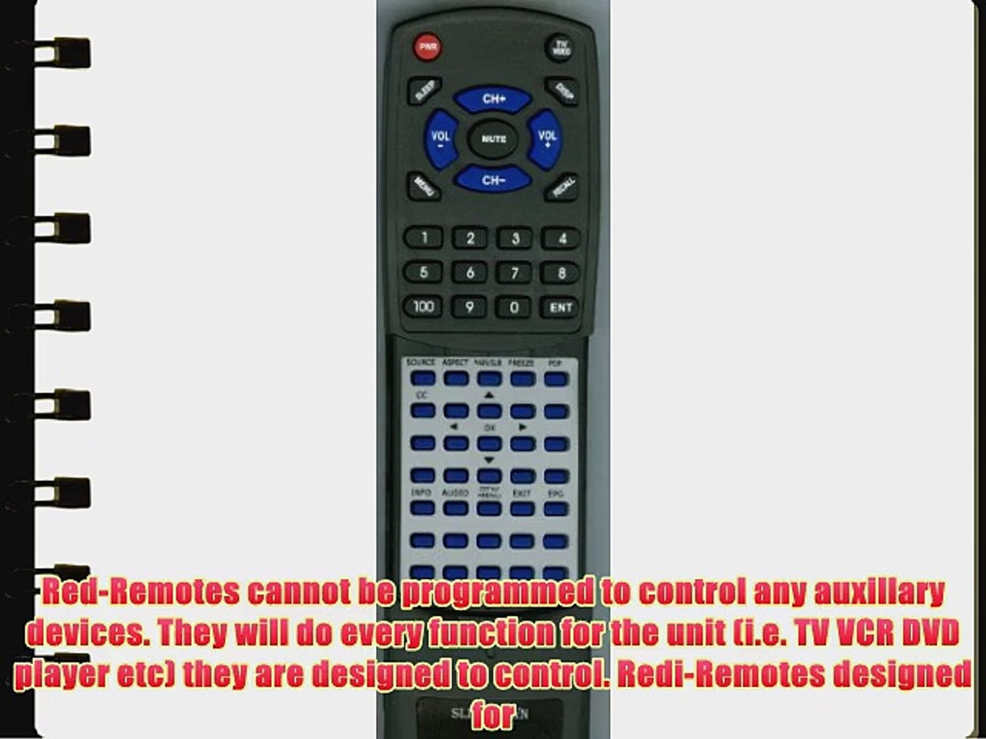 EMPREX Replacement Remote Control for HD3701P RC60US2