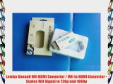 Leicke KanaaN Wii HDMI Converter / Wii to HDMI Converter - Scales Wii Signal to 720p and 1080p