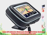 Arkon GPS Adhesive Motorcycle Mount with Water Resistant Holder for 4.3 inch Screen Size GPS