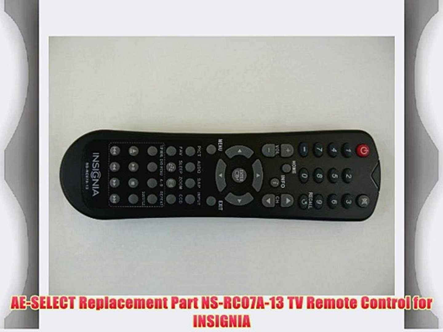 8300060300010S RMC5101HD Replacement Remote for INSIGNIA NSR5101HD
