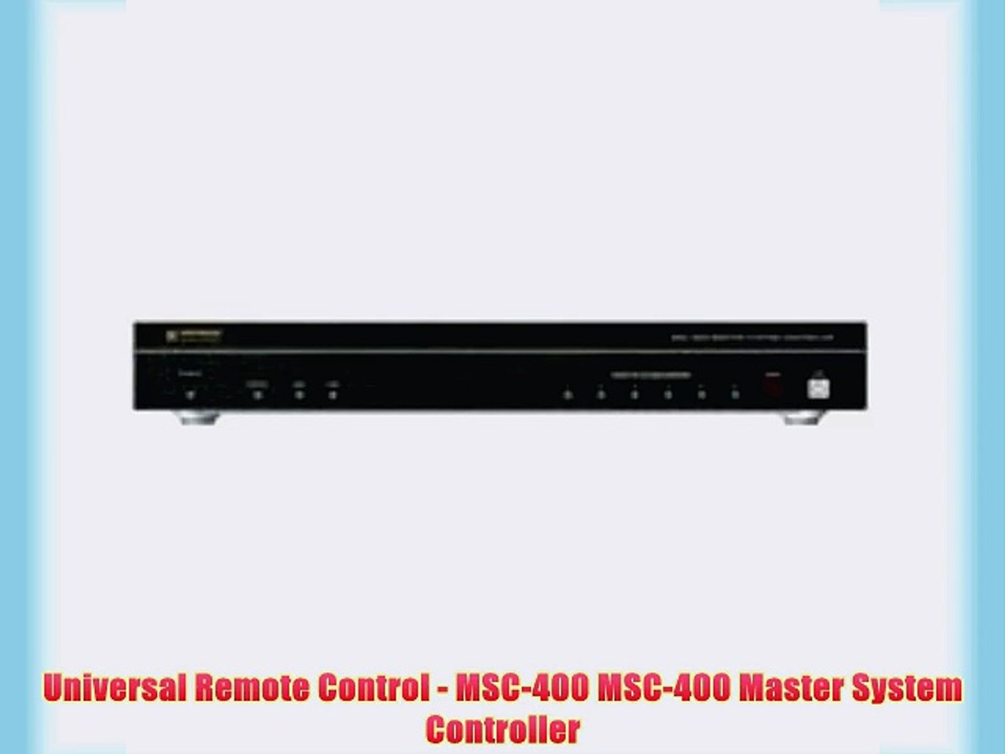Universal Remote Control Master System Controller MSC-400
