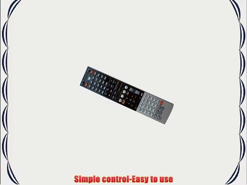 Easy Replacement Remote Control Fit for Yamaha RX-V565 RX-V373BL RX-V571 HTR-6240BL AV A//V Receiver