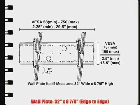 Black Tilting Wall Mount Bracket for Olevia//Syntax LT32HV LCD 32 inch HDTV TV