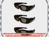 3DTV Corp DLP LINK 3D Glasses-THREE for ALL 3D Ready DLP Projectors and ALL Samsung and Mitsubishi